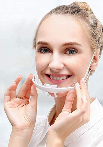 DECADE 10 Stück Safety Gesichtsschutzschild Kunststoff Visier Gesichtsschutz Anti-Fog Anti-Öl Splash Transparent Schutzvisier - Essen Hygiene Spezielle Anti-Saliva Gesichtsschutzschirm