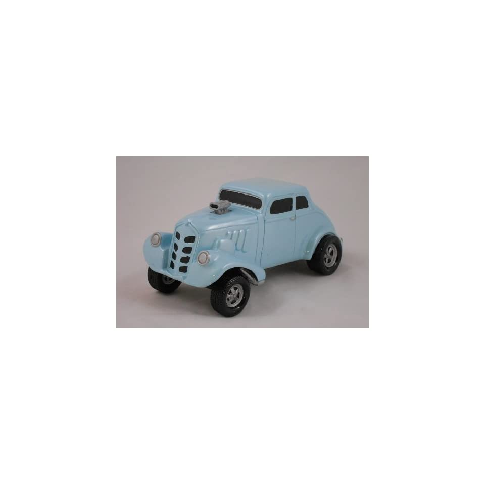 1933 WILLYS GASSER, LIGHT BLUE, COLLECTIBLE 118 SCALE MODEL, HOT ROD, STREET ROD, DRAG RACING CAR