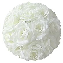 Tgp Fabric Artificial Flowers Silk Rose Pomander Wedding Party Home Decoration Kissing Ball Trendy Color Simulation Flower