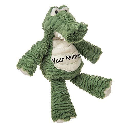 Personalized Marshmallow Gator Alligator for Girls or Boys Plush Stuffed Animal Toy with Custom Name