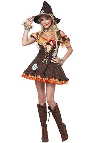 California Costumes Women's Sassy Scarecrow Adult Woman Costume, Brown, 2X Large ()