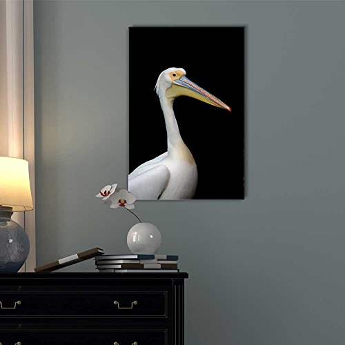 Pelican on a Black Background Wall Decor ation