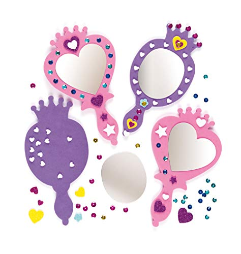 - Baker Ross Princess Foam Mirror Kits Self Adhesive Mirror & Foam Decorations, Children's Craft Activity (Pack of 4)
