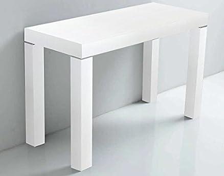 ARREDinITALY - Tavolo consolle allungabile da 90x50 a 90x300 cm ...