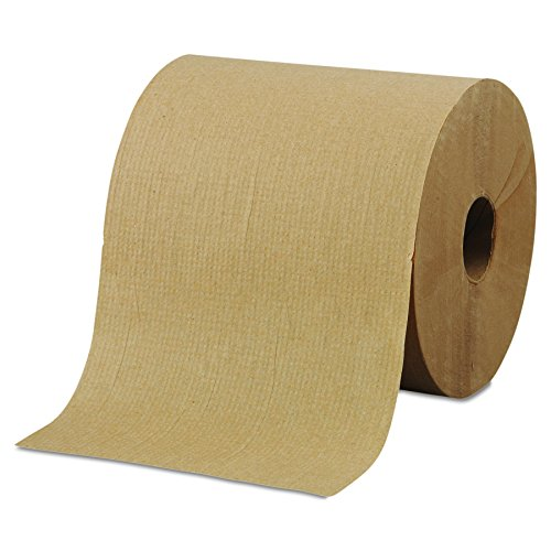 "Morcon Paper R6800 Hardwound Roll Towels, 8"" x 800ft, Brown (Case of 6)"