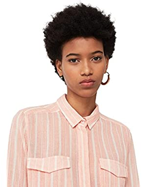 Mango Women's Striped Cotton Shirt