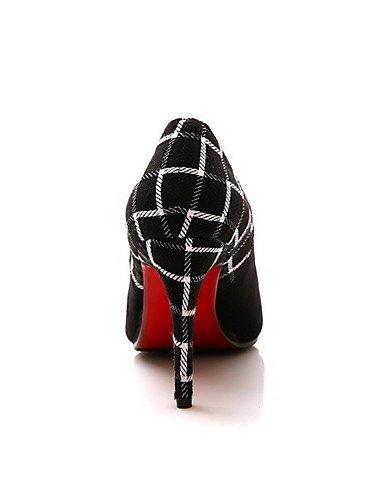 GGX  Damen-High Heels-Lässig-Kunststoff-Stöckelabsatz-Absätze   Spitzschuh   Geschlossene Geschlossene Geschlossene Zehe-Schwarz B01KL7MOX2 Sport- & Outdoorschuhe Im Gegensatz zu dem gleichen Absatz a702ea