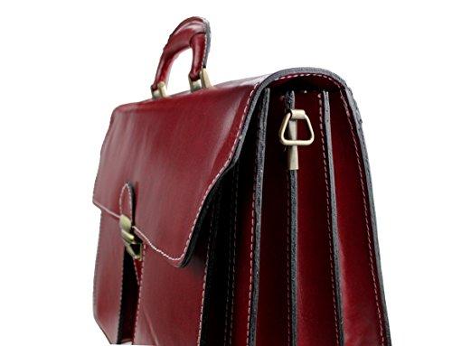 hombro para Rojo Bolso de al Yosemite Piel hombre bag2basics Rojo wxSq1aH1