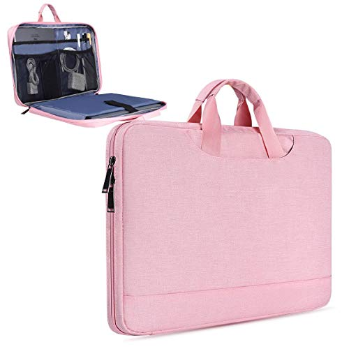 11.6 Inch Laptop Chromebook Case Briefcase for Women Fit Lenovo Flex 11, Dell XPS 13, Dell Inspiron 11, MacBook Air 13 A1932, HP Asus Samsung Chromebook 11.6 Notebook Bussiness Travel Bag(Pink)
