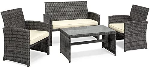 patio, lawn, garden, patio furniture, accessories, patio furniture sets,  dining sets 1 on sale Best Choice Products 4-Piece Wicker Patio Furniture promotion