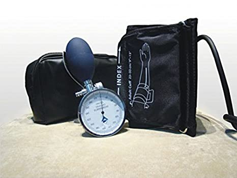 Gess - Esfigmomanómetro Tensiometro aneroide con manometro, pera y valvula integrado + estetoscopio: Amazon.es: Salud y cuidado personal