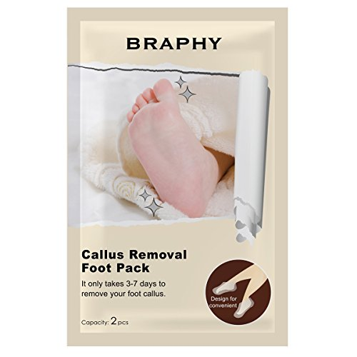 Gena Paraffin Wax (BRAPHY Callus Removal Foot Pack Foot Mask Deep Exfoliation for Feet peel Foot Peeling for Dry and Dead Skin)