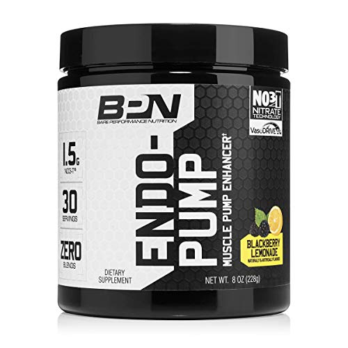 - Bare Performance Nutrition | Endo Pump Muscle Pump Enhancer | L-Citrulline, NO3-T Betaine Nitrate & VasoDrive-AP Hydrolyzed Casein Tripeptides (30 Servings, BlackBerry Lemonade)