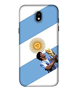 Colorking Football Maradona Argentina 01 White shell case cover for Samsung J5 Pro 2017