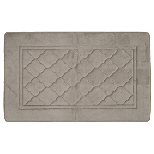 RT Designers Collection RT Designers Capri Memory Foam Bath Mat 21 inch by 34 inch, Taupe 21 x 34,