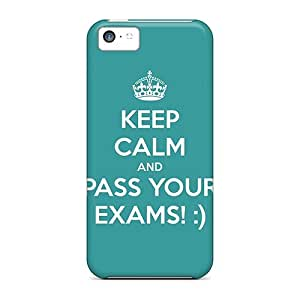 For Iphone 5c Protector Case Keep Calm And Pass Your Exams Phone Cover