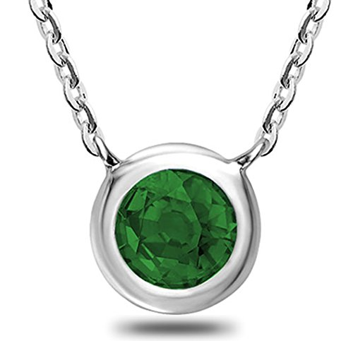 10K Gold and Emerald Pendant - 17
