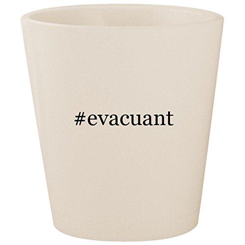 #evacuant - White Hashtag Ceramic 1.5oz Shot Glass