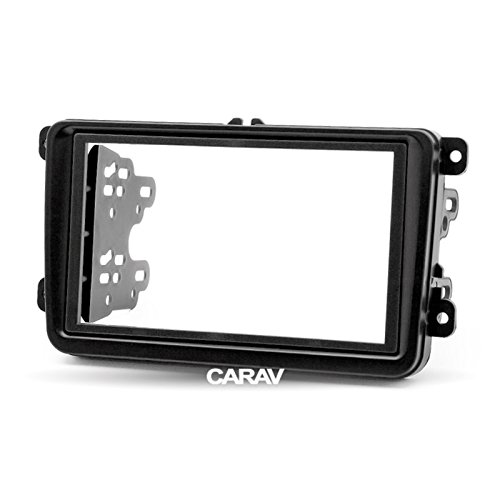 CARAV 08-009 Double Din car dash installation kit Radio Stereo Facia Fascia Panel Frame DVD Player Dash Install Panel for SEAT Altea SKODA Fabia Octavia SuperB Yeti VOLKSWAGEN with 17398mm 178102mm