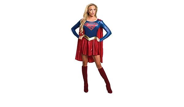 Horror-Shop Supergirl Disfraz De Mujer con Capa L: Amazon.es ...