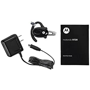 Motorola H720 Black Bluetooth Headset - Retail Packaging
