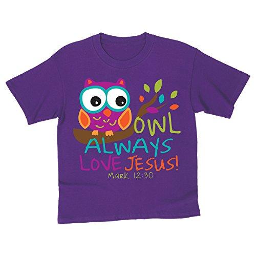 Owl, Kidz Tee, MD, Purple - Christian Fashion Gifts