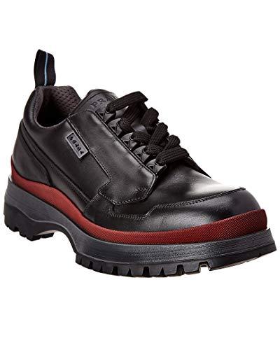 Prada Leather Sneaker, 8, Black