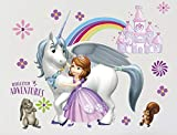 GADFLY Children, Kids, Baby, Nursery's Peal and Stick Wall Decals Stickers (Sofia The First Unicorn)