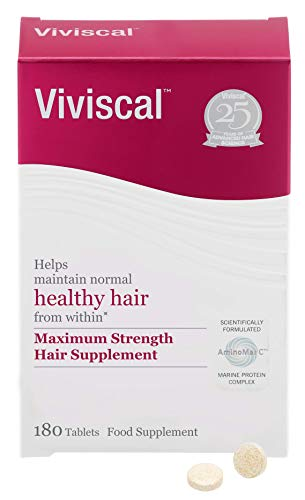 Viviscal - Maximum Strength Hair Supplements, Pack of 180 Tablets (3 Month Supply)