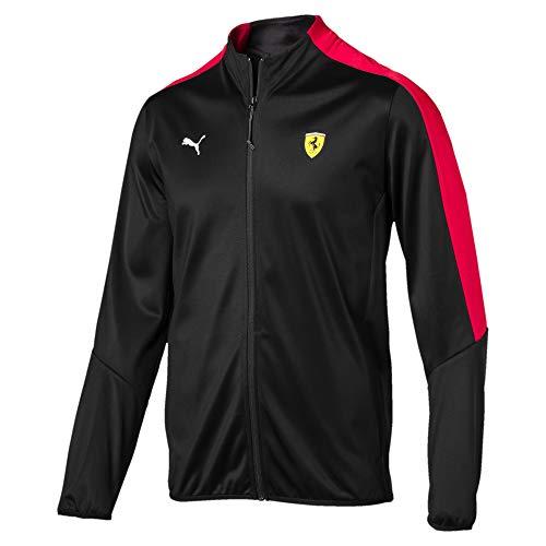 PUMA Men's Scuderia Ferrari Track Jacket, Black, XL