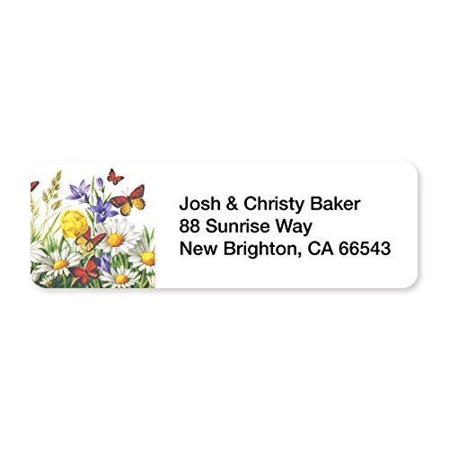 (Flowers in The Meadow Set of 215 Sheeted Address Labels)