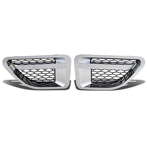 (Side Fender Vent Mesh Grille (Chrome Surface Black Mesh) for Land Rover Range Rover Sport L322)