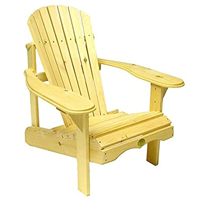Rustic Natural Cedar Furniture 040404P Outdoor and Patio Adirondack Bar Chair, Natural