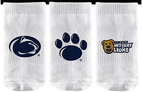 Elite Fan Shop NCAA Baby Sock 3-Pack 6 Total Socks