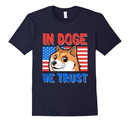 Men's In Doge We Trust T-Shirt | Funny Doge Meme T-Shirt Small Navy