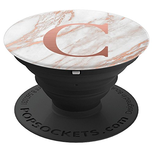 Rose Gold Letter C - Monogram - PopSockets Grip and Stand for Phones and Tablets