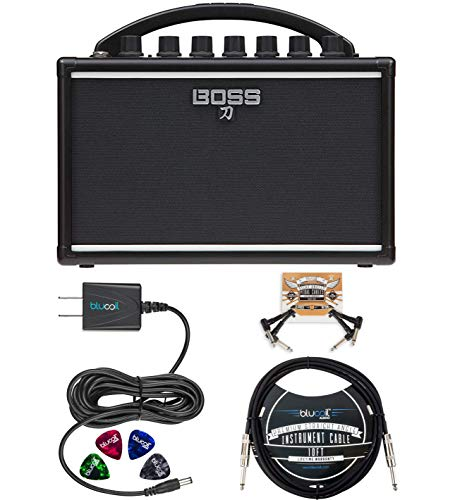 BOSS Katana Mini Amp 7W Solid State Amplifier Bundle with