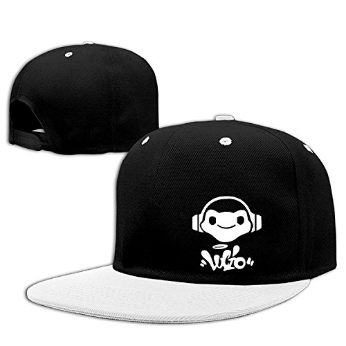 Overwatch Lucio Logo Unisex Outdoor Hip Hop Running Cotton Caps Hats Adjustable White