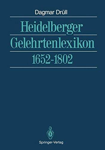 Heidelberger Gelehrtenlexikon: 1652–1802