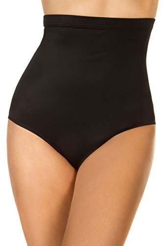Miraclesuit High-Waist Swim Bottom, 10, Black (Miraclesuit Piece Two Tankini)