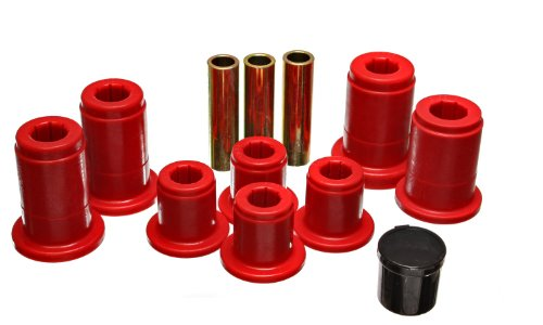 Energy Suspension 4.3168R Control Arm Bushing Set Red Front Must Reuse All Hardware Performance Polyurethane Control Arm Bushing Set