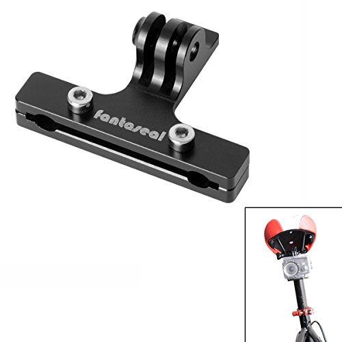 Fantaseal Aluminum Alloy Bike Mount Action Camera 2-Rail Saddle Bicycle Seat Mount Seat Rail Mount Bike Rack Mount for SJCAM DBPOWER TomTom Bandit Garmin Virb Sport Camera Bike Mount Bicycle Mount (Seat Mount Aluminum)
