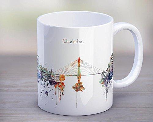 (Charleston Hot Chocolate Mug,Coffee Skyline Cup,Silhouette,Funny Mug,Kitchen Gift,Travel gift,birthday gift,Mug 11oz)