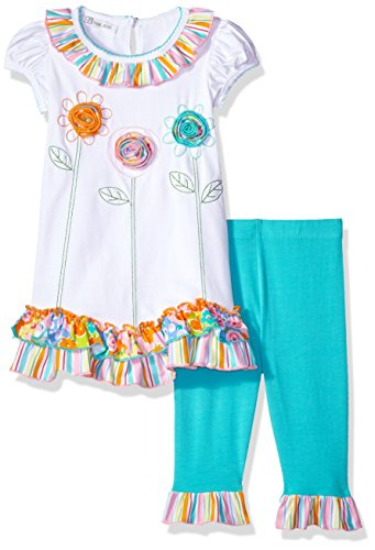 Bonnie Jean Girls' Toddler Appliqued Dress and Legging Set, Flowers, 4T from Bonnie Jean