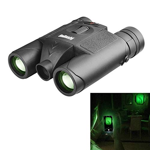 Beileshi 10X Binocular Telescope Laser Radiation Night Vision for Adults Bird Watching Travel Stargazing Hunting Concerts Sports-BAK4 Prism FMC Lens-with Carrying Case (Black-Binocular Laser)
