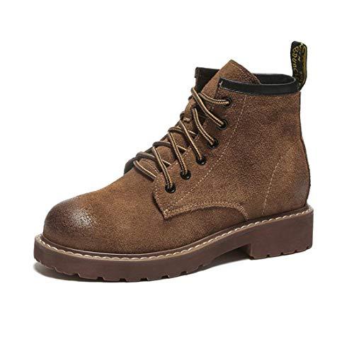 Boots DANDANJIE inglese Martin B stile Stivaletti Scrub stringati Stivali da Autunno donna Flat Retro PnqPwf6ra