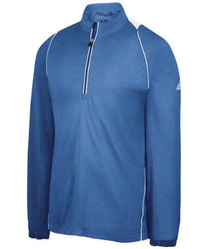 - adidas Men's Climaproof Wind Half-Zip Jacket 1 - Gulf - Small
