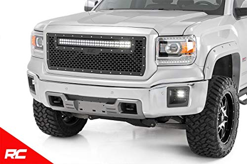 Rough Country Custom Mesh LED Grille Compatible w/ 2014-2015 GMC Sierra 1500 30