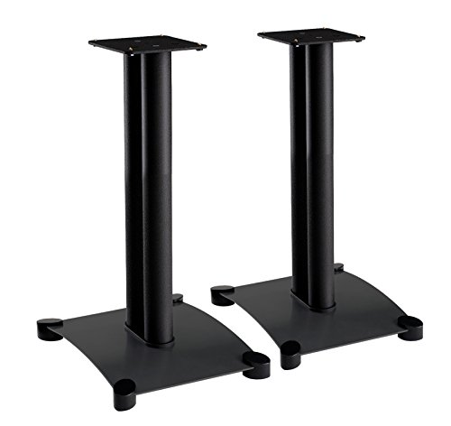 Sanus Steel Series 22'' Speaker Stands for Medium to Large Bookshelf Speakers - SF22-B1 by Sanus