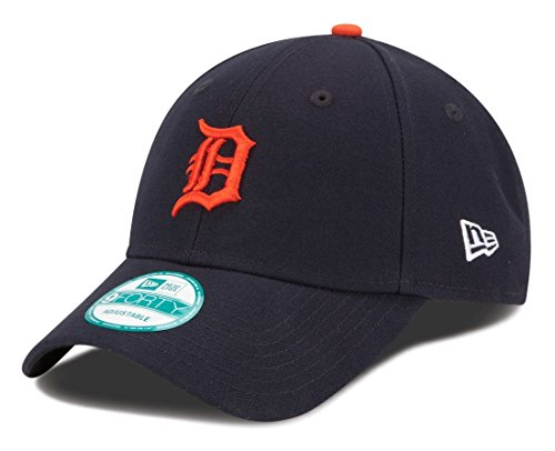 - MLB Detroit Tigers Road The League 9FORTY Adjustable Cap, One Size, Navy
